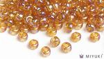 Miyuki 6/0 Glass Beads 2456 - Transparent Gold AB approx. 30 grams
