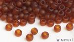 Miyuki 8/0 Glass Beads 134F - Transparent Frost Copper approx. 30 grams