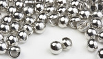3mm Silver Rhodium All Metal Stud Buttons - 100 pk -Crystaletts