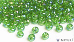 Miyuki 6/0 Glass Beads 179L - Transparent Light Green AB approx. 30 grams