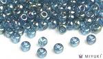 Miyuki 8/0 Glass Beads 305 - Lake Blue Gold Luster approx. 30 grams
