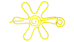 Nirvana Daisy Shawl Pin - Yellow