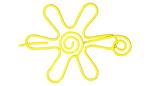 Nirvana Daisy Shawl Pin - Yellow