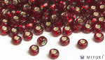 Miyuki 8/0 Glass Beads 11 - Silverlined Ruby approx. 30 grams