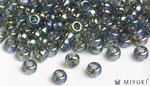 Miyuki 6/0 Glass Beads 249 - Transparent Grey AB approx. 30 grams