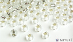 Miyuki 6/0 Glass Beads 1 - Silverlined Crystal approx. 30 grams