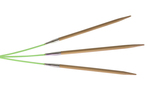 "8"" 0 US/2mm Bamboo HiyaHiya Flyers - Pack of 3"