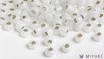 Miyuki 8/0 Glass Beads 551 - Silverlined Opal approx. 30 grams