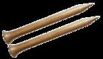 "12"" 50 US/25mm Nirvana  Birch Single Point Needles"