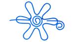 Nirvana Daisy Shawl Pin - Dark Blue