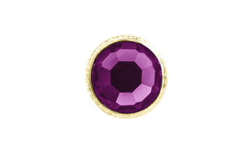 3mm Buttons Fuchsia with Gold Bezel 100pk - Crystaletts picture