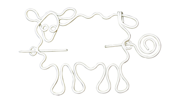 Nirvana Sheep Shawl Pin - White picture