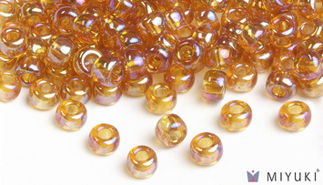Miyuki 6/0 Glass Beads 2456 - Transparent Gold AB approx. 30 grams picture