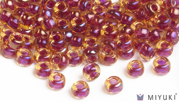 Miyuki 8/0 Glass Beads 363 - Cranberry-lined Topaz AB approx. 30 grams picture