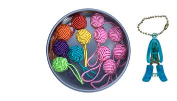Yarn Ball Stitch Marker Gift Tin picture