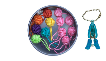 Yarn Ball Stitch Marker Gift Tin picture