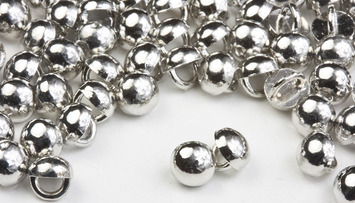 3mm Silver Rhodium All Metal Stud Buttons - 100 pk -Crystaletts picture