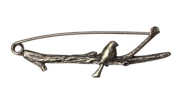 HiyaHiya Bird Shawl Pin - Antique picture