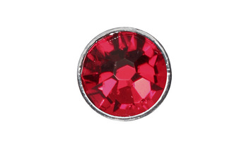 3mm Buttons Light Siam with Silver Bezel 100 pk - Crystaletts Siam with Silver Bezel 100 pk picture