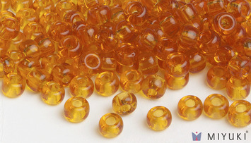 Miyuki 8/0 Glass Beads 133 - Transparent Amber approx. 30 grams picture