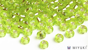 Miyuki 8/0 Glass Beads 14 - Silverlined Chartreuse approx. 30 grams picture