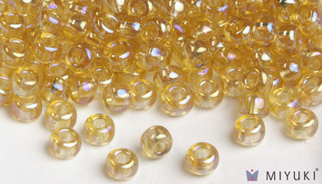 Miyuki 6/0 Glass Beads 251 - Transparent Pale Gold AB approx. 30 grams picture