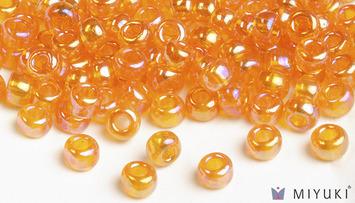 Miyuki 6/0 Glass Beads 2460 - Transparent Orange AB approx. 30 grams picture