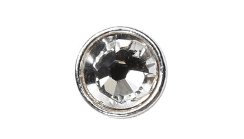 3mm Buttons Crystal with Silver Bezel 100 pk - Crystaletts picture
