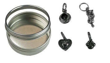 Pewter Stitch Marker Set - Cat Collection picture