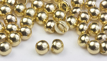 3mm Gold Rhodium All Metal Stud Buttons - 100 pk - Crystaletts picture