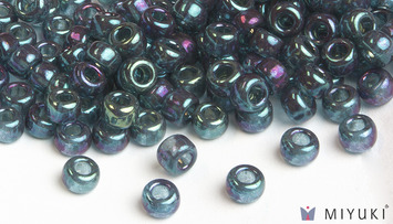 Miyuki 6/0 Glass Beads 314 - Capri Blue Gold Luster approx. 30 grams picture