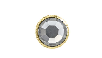 3mm Buttons Crystal with Gold Bezel 100pk - Crystaletts picture