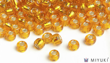 Miyuki 8/0 Glass Beads 7 - Silverlined Light Orange approx. 30 grams picture