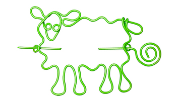 Nirvana Sheep Shawl Pin - Lime picture