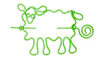 Nirvana Sheep Shawl Pin - Lime picture