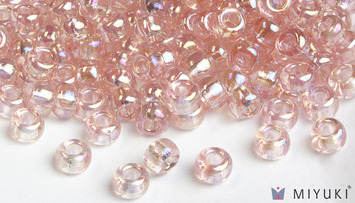 Miyuki 8/0 Glass Beads 292 - Transparent Pale Pink AB approx. 30 grams picture