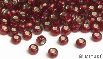 Miyuki 8/0 Glass Beads 11 - Silverlined Ruby approx. 30 grams picture