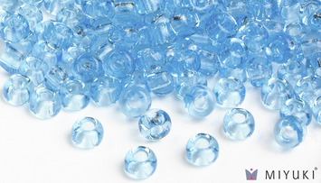 Miyuki 6/0 Glass Beads 148 - Transparent Light Blue approx. 30 grams picture