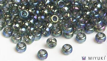 Miyuki 6/0 Glass Beads 249 - Transparent Grey AB approx. 30 grams picture
