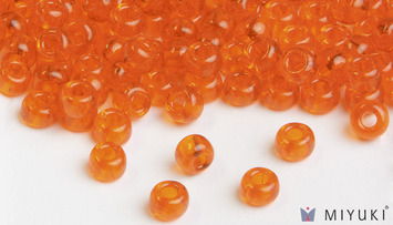 Miyuki 8/0 Glass Beads 138 - Transparent Orange approx. 30 grams picture
