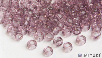 Miyuki 6/0 Glass Beads 142 - Transparent Lilac approx. 30 grams picture