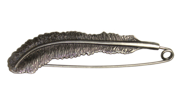HiyaHiya Feather Shawl Pin -Antique picture