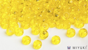 Miyuki 6/0 Glass Beads 136 - Transparent Yellow approx. 30 grams picture