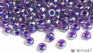 Miyuki 6/0 Glass Beads 356 - Purple-lined Amethyst AB approx. 30 grams picture