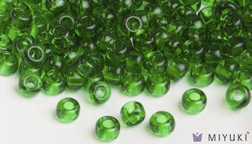 Miyuki 8/0 Glass Beads 146 - Transparent Grass Green approx. 30 grams picture