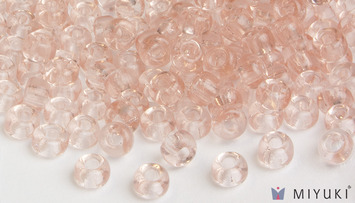 Miyuki 6/0 Glass Beads 155 - Transparent Pale Pink approx. 30 grams picture