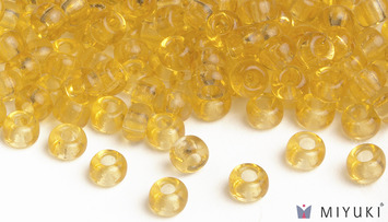 Miyuki 8/0 Glass Beads 132 - Transparent Pale Gold approx. 30 grams picture