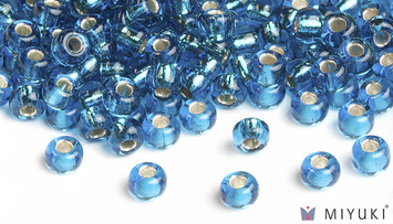 Miyuki 6/0 Glass Beads 25 - Silverlined Capri Blue approx. 30 grams picture