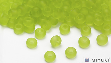 Miyuki 8/0 Glass Beads 143F - Transparent Frost Chartreuse approx. 30 grams picture