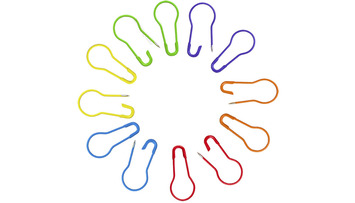 HiyaHiya Knitters' Safety Pins - Multi-Color picture